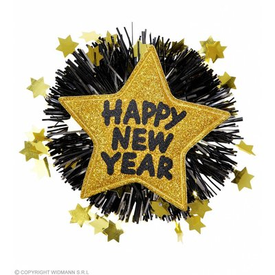 "Broche ""Happy New Year"" Goud"
