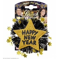 "Widmann Broche ""Happy New Year"" Goud"