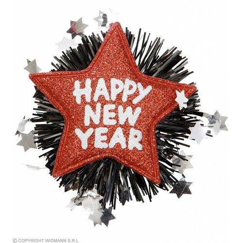 "Widmann Broche ""Happy New Year"" Rood"