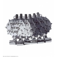 6 Happy New Year Roltongen Zilver