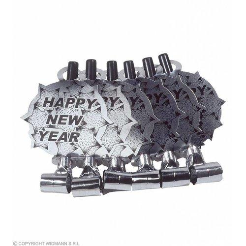 Widmann 6 Happy New Year Roltongen Zilver