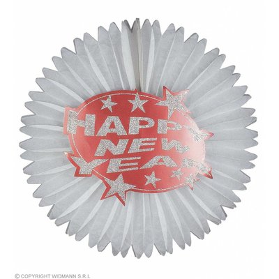 Happy New Year Papier Decoratie Rood