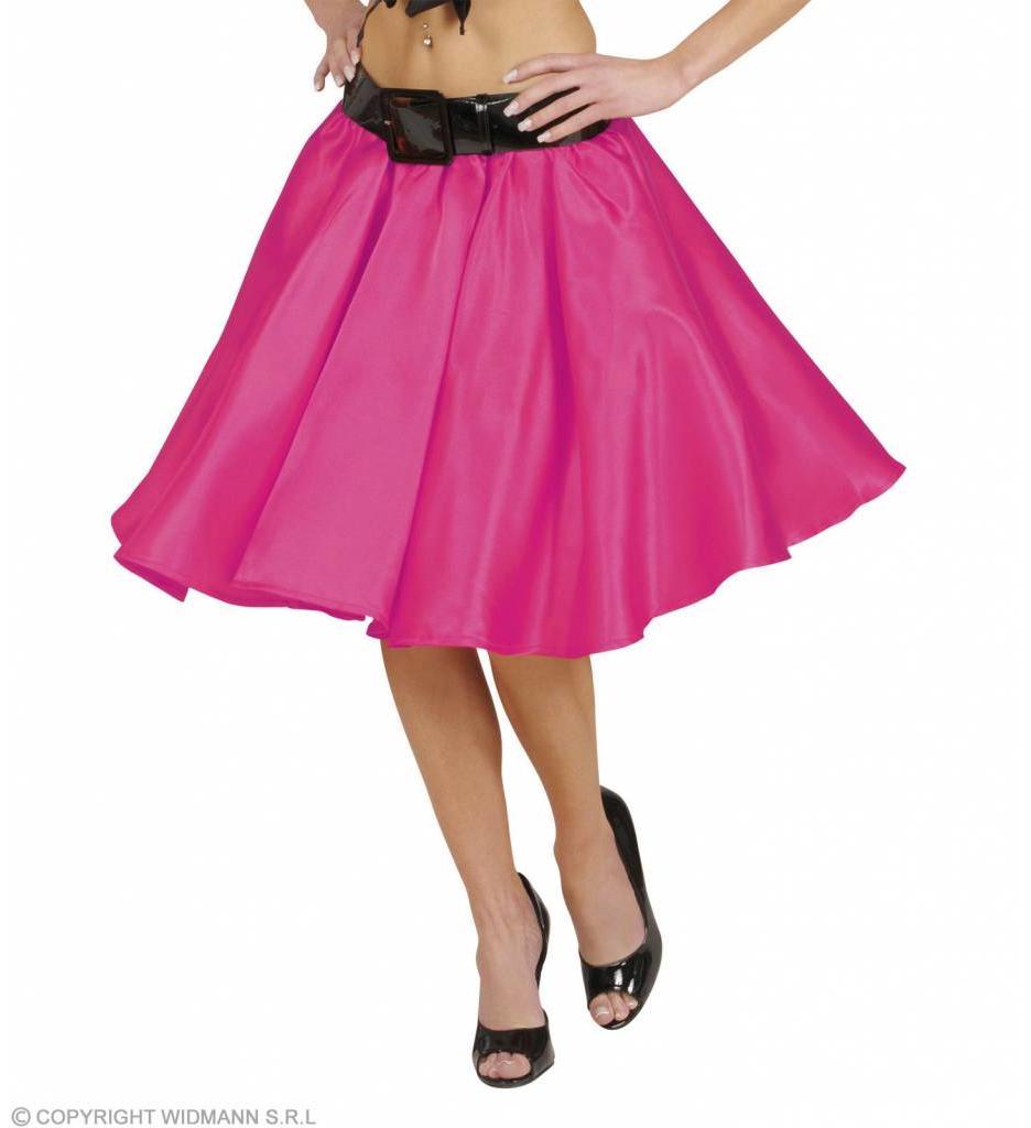 Satijnen Rokje Met Petticoat Roze