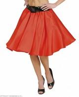 Satijnen Rokje Met Petticoat Rood