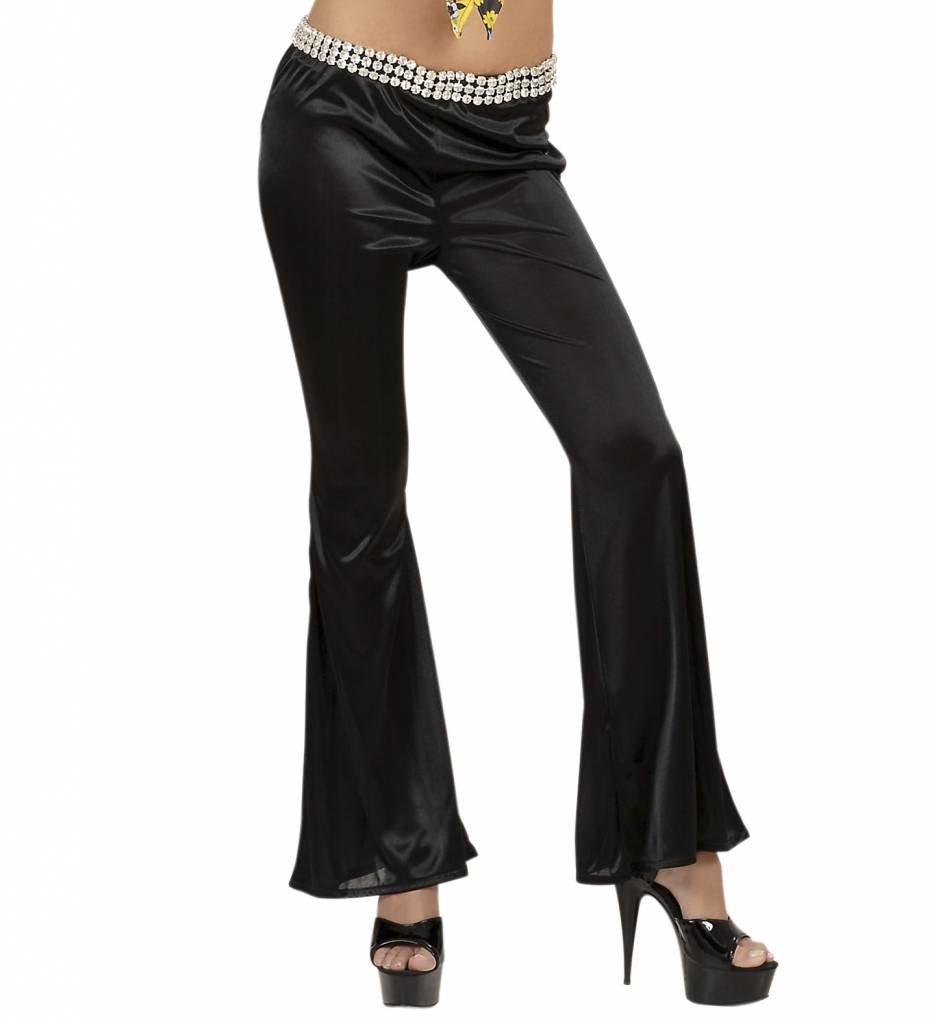 Damesbroek Stretch Seventies Zwart