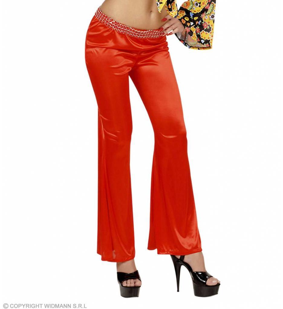 Damesbroek Stretch Seventies Rood