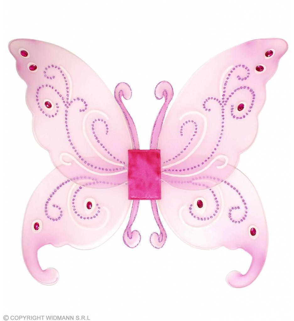 Fantasie Glitter Vleugels Met Gemsteentjes