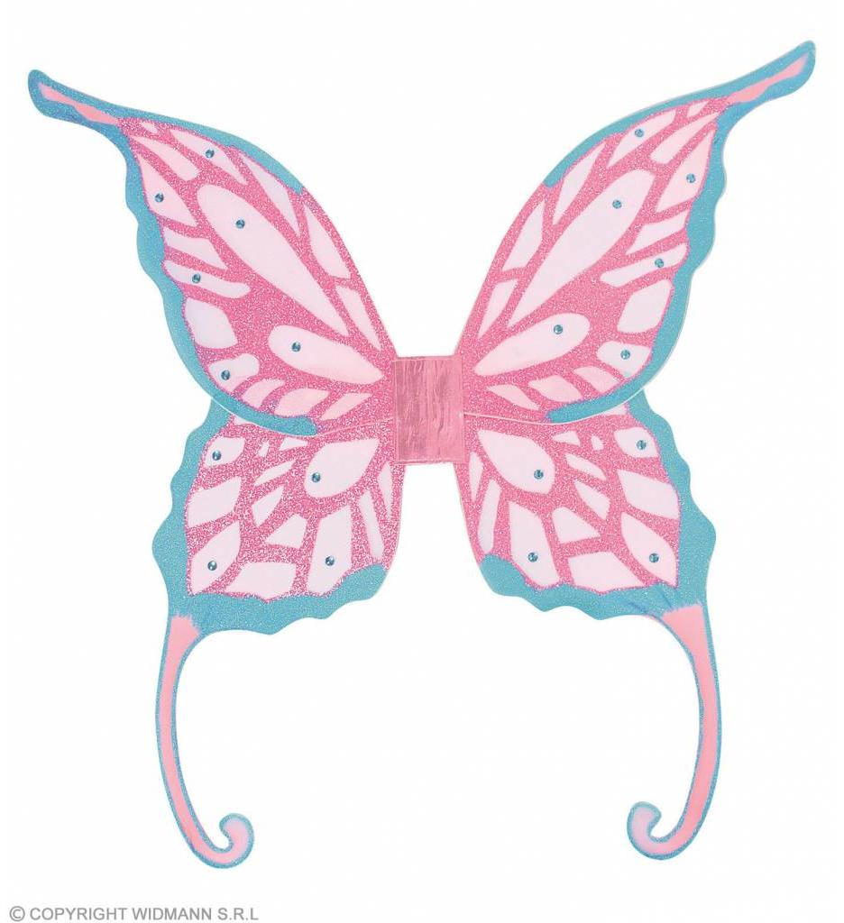 Fantasie Glitter Vleugels Met Gemsteentjes Jumbo