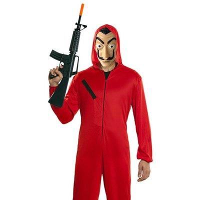 Bankovervaller Kostuum Rood Met Masker