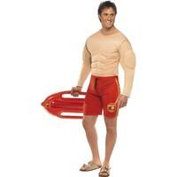 Smiffys Baywatch Spierenpak Kostuum