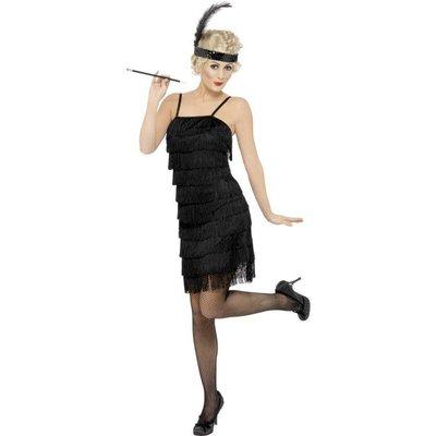 Jaren 20 Flapper Kostuum Zwart