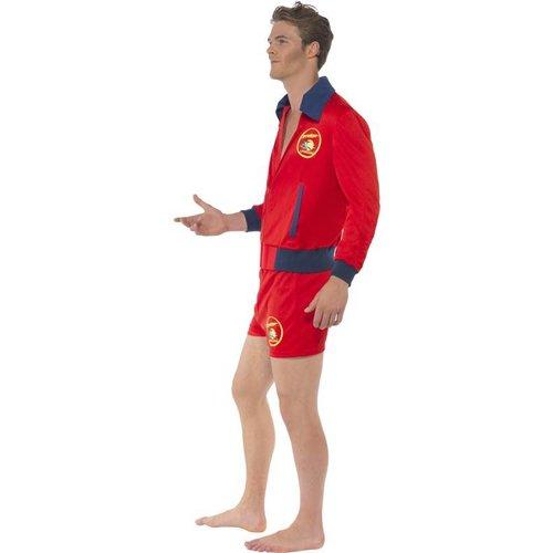 Smiffys Baywatch Kostuum Rood Heren