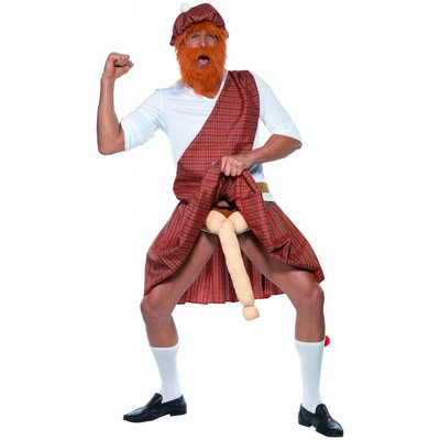 Schotse Hooglander Naakt Kostuum
