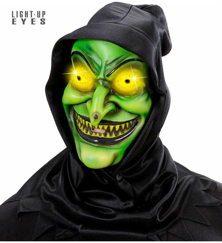 Heksenmasker Met Kap Lichtg. Ogen