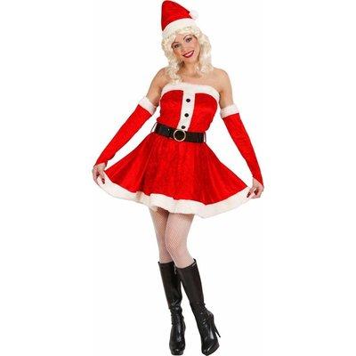 Miss Santa Fluweel (Jurk/Riem/Handschoene/Muts) Maat