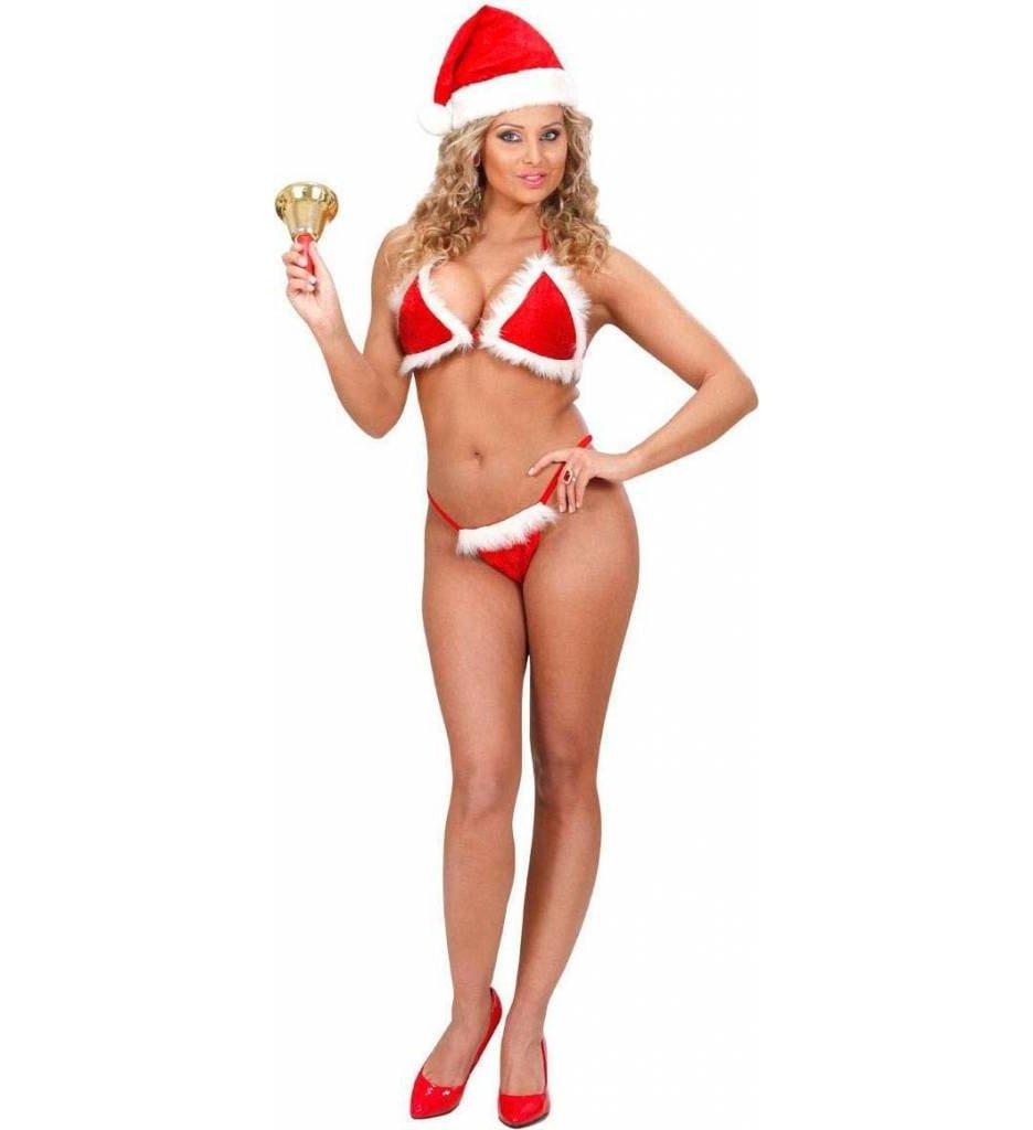 Kerst Bikini Fluweel Met Pluche