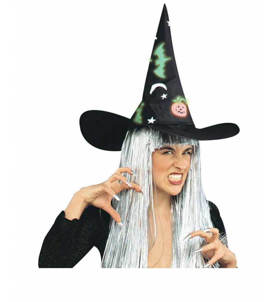 Heksenhoed Halloween Lichtgevend In Donker