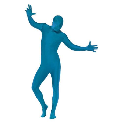 Smiffys Blauw Skinsuit Tweede Huid