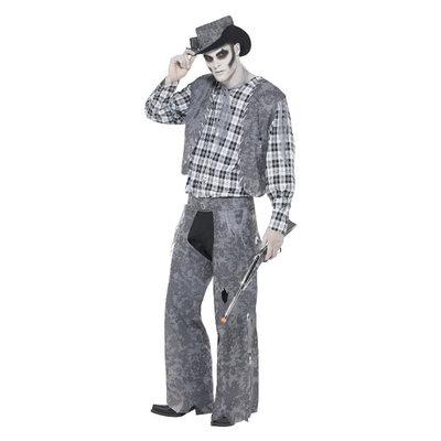 Spookstad Cowboy Kostuum - Grijs