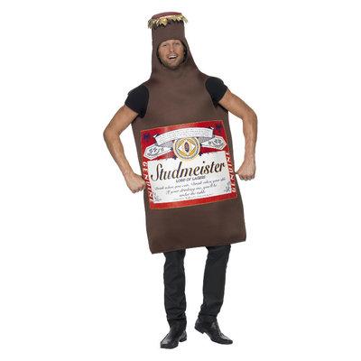 Studmeister Bierfles Kostuum - Bruin