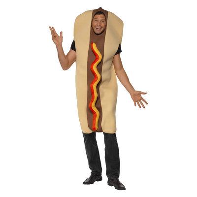 Reuze Hot Dog Kostuum - Bruin
