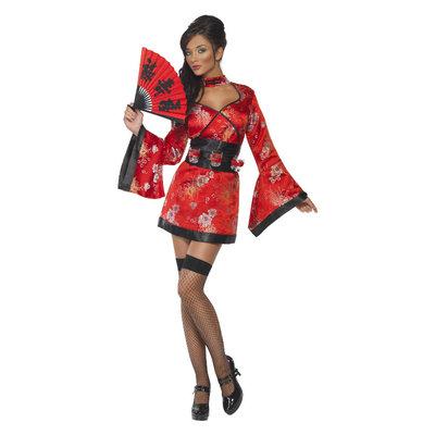 Wodka Geisha Kostuum - Rood