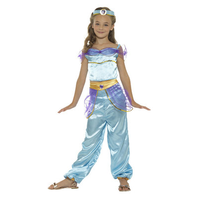 Arabische Prinses Kostuum - Blauw