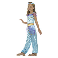 Smiffys Arabische Prinses Kostuum - Blauw