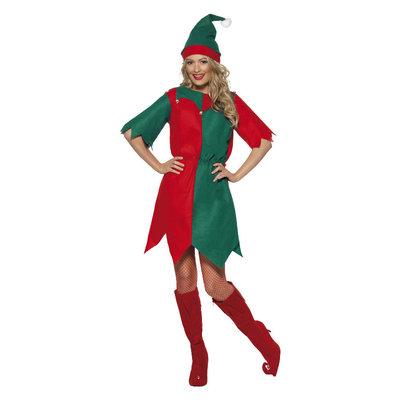 Elf Kostuum - Rood En Groen