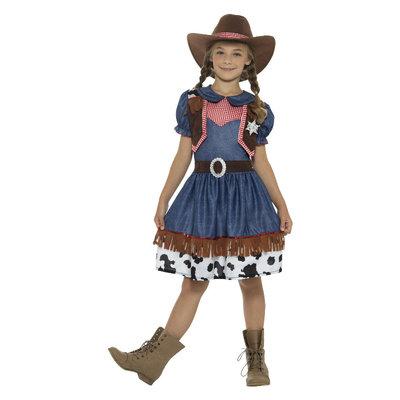 Texaanse Cowgirl Kostuum - Blauw