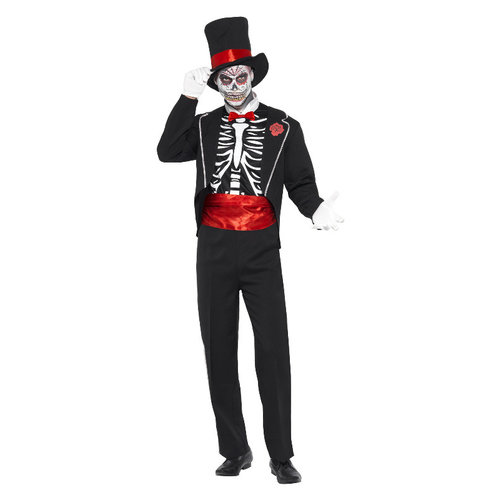 Smiffys Dag Van De Doden Kostuum - Zwart