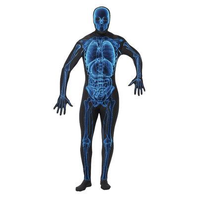 X Ray Kostuum - Second Skin - Blauw En Zwart