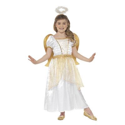 Engel Prinses Kostuum - Wit En Goud