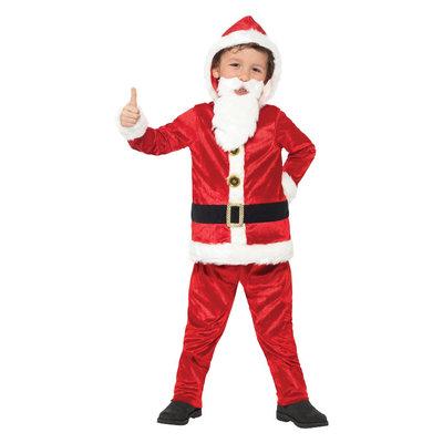 Compleet Kerstman Kostuum - Rood-wit