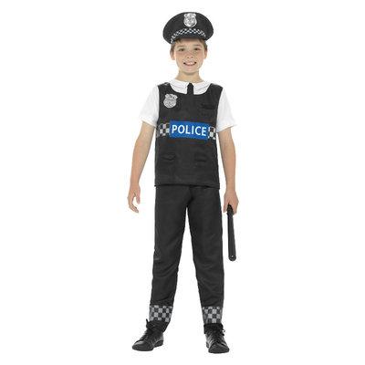 Cop Kostuum - Zwart-wit