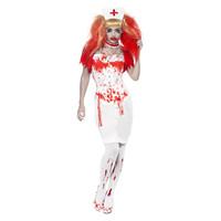 Smiffys Bloed Druppel Verpleegster Kostuum - Wit