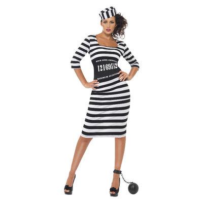 Classy Gevangene Kostuum - Zwart-wit