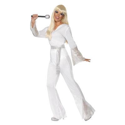 '70 Disco Dame Kostuum - Wit