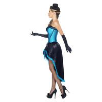 Smiffys Burlesque Danseres Kostuum - Blauw