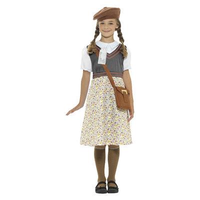 Evacutie Schoolmeisje Kostuum - Grijs