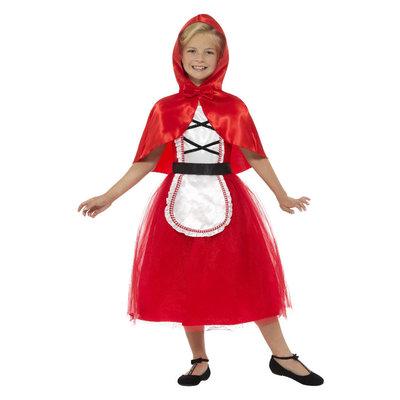 Deluxe Red Riding Hood Kostuum - Rood