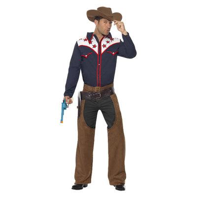 Rodeo Cowboy Kostuum - Blauw