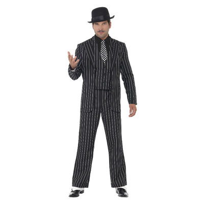 Vintage Gangsterbaas Kostuum - Zwart