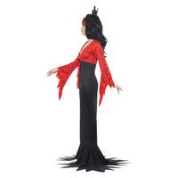 Smiffys Boze Koningin Kostuum - Rood En Zwart