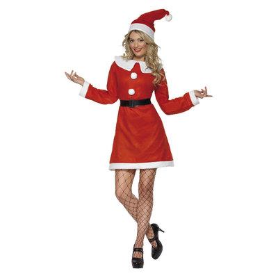 Kerstvrouw Kostuum - Rood