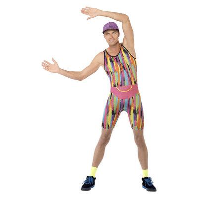Aerobics Instructeur Kostuum - Veelkleurige