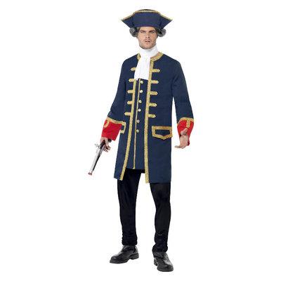Piraat Bevelhebber Kostuum - Blauw