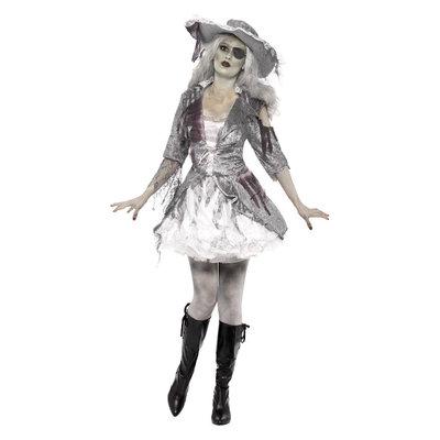 Spookschip Piratenschat Kostuum - Grijs