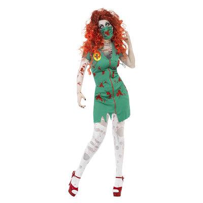 Zombie Scrub Verpleegster Kostuum - Groen