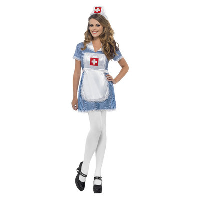 Verpleegster Ondeugende Kostuum - Blauw